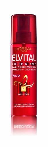 L'Oréal Paris Elvital Color-Glanz Tägliches Pflegespray, 2er Pack (2 x 200 ml)
