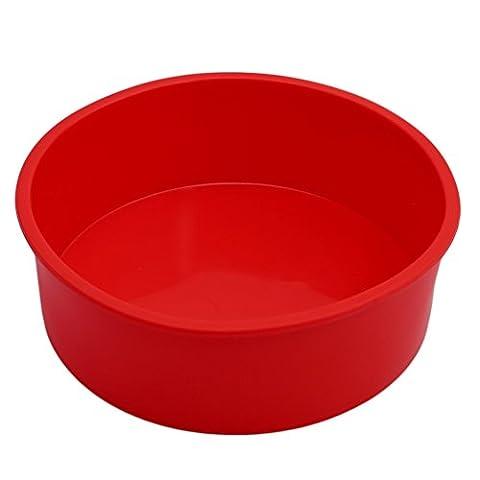Albeey Silikonbackform Rund Durchmesser 15 cm Kuchen Backform Kuchenform