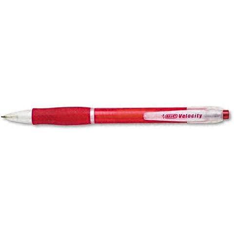 BIC - Ballpoint Pen, Retractable, Medium Point, Red Ink/Barrel, Sold as 1 Dozen, BICVLG11RD - Point Red Barrel