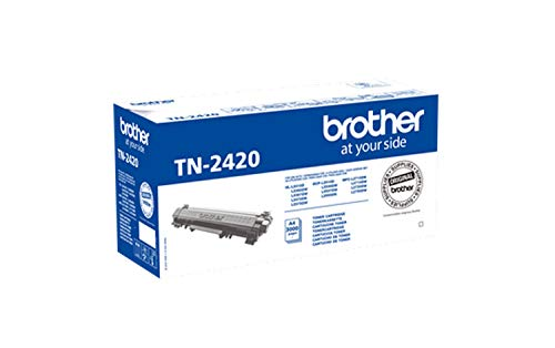 Brother TN-2420 Tonerkartusche (für Brother HL-L2310D, HL-L2350DW, HL-L2370DN, HL-L2375DW, DCP-L2510D, DCP-L2530DW, DCP-L2550DN, MFC-L2710DN, MFC-L2710DW, MFC-L2730DW, MFC-L2750DW) schwarz