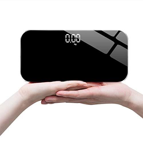 BNGHGF Mini Digitale Waage, Weight Watchers Personenwaage, hohe Präzision Ultra dünn Versteckter Bildschirm elektronische Waage, mit USB-Ladekabel