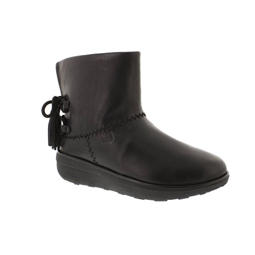 Fitflop Mukluk Boots (FitFlop Mukluk Shorty II Boots With Tassels - Black Leather 7 UK)