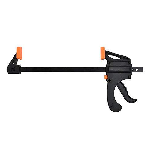 Black Oxide Bar (4 Zoll Holzbearbeitung Bar Clamp Quick Ratsche Release Geschwindigkeit Squeeze F-Typ Clip manuelle Spreader Gadget DIY Handwerkzeug - Orange & Schwarz)