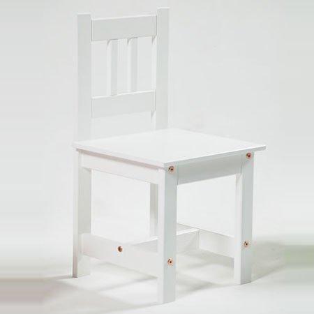 lounge-zone Kinderstuhl Kinderholzstuhl LA MER aus Massivholz Holz weiß lackiert Kindermöbel MADE IN EU #1078