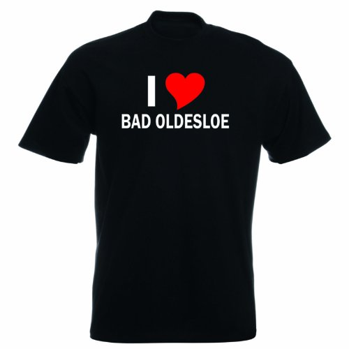T-Shirt mit Städtenamen - i Love Bad Oldesloe- Herren - unisex Schwarz