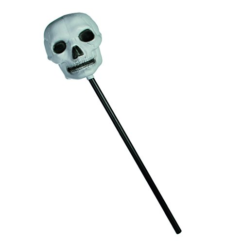 alloween ''Totenkopfstab''   Grusel   Geschenkidee für Jungen & Mädchen   Zombies   Geister   Halloween Deko   Party Zubehör   Halloween Accessoires   Totenkopf Deko (Brauchtum Halloween Kind)