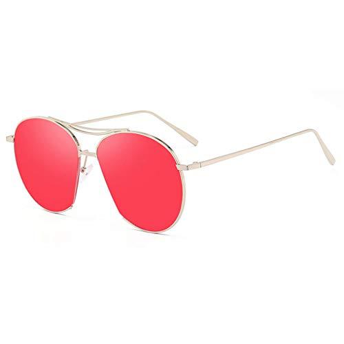 Luckiests Zweistrahl-Sonnenbrille Versatile Frauen Männer Brillen Metallrahmen Brillen UV400 Schutz