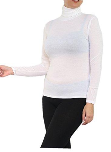 souspull, Maglietta a maniche lunga, taglia grande, 46–54 Bianco