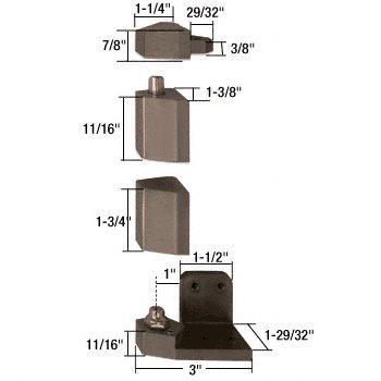 Crl Duranodic Bronze (CRL Jackson linke Hand Duranodic Bronze 1.91 cm Offset Zapfenband Set - Unterputz mit Rahmen Gesicht)