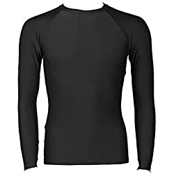 B-Tuf Cricket/Fitness Compression Lycra Skin Inner Wear Full Sleeves (Black) - Large