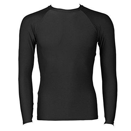 B-Tuf Cricket/Fitness Compression Lycra Skin Inner Wear Full Sleeves (Black) - Large