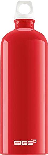 Sigg Fabulous Red, Design Trinkflasche, 1 L, Aluminium, BPA Frei, Rot, 1.0 L -