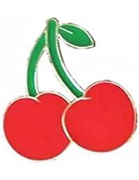 Fishroll Cherry Shaped Broche Esmalte Pin Insignia para Ropa Bolsas Mochilas Solapa Pin para Mujer