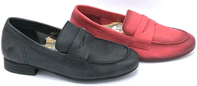 Felmini B748 Mocassino Pelle Nero Rosso Rosso Rosso - Taglia Scarpa 36 Coloreee Rosso | Sensazione Di Comfort  9dcb75