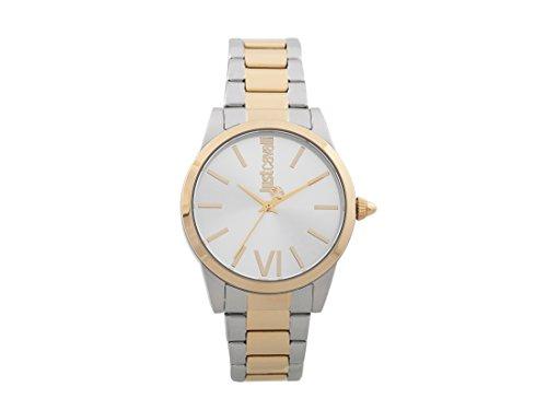 Just Cavalli Damen Analog-Digital Quarz Uhr mit Edelstahl Armband JC1L010M0135