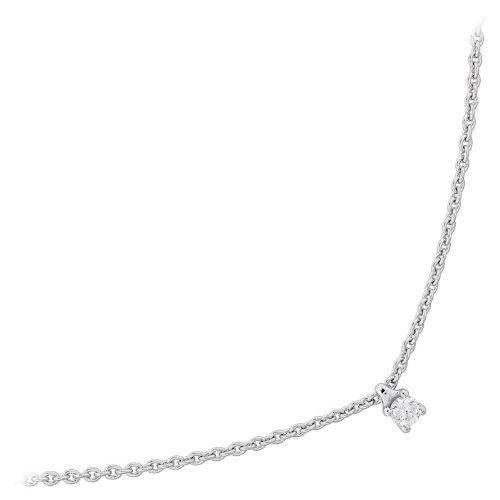 Orleo - REF3104BB : Collier Femme Or 18K blanc et Diamant