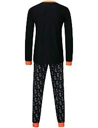 FELZ Conjunto de Pijamas Calaveras de Halloween Imprimir Camiseta de Manga Larga Tops + Pantalones Sudaderas Bebe niña Invierno Conjunto Bebe niño Ropa Familiar—Padre + Madre + Bebé