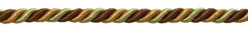 Goldene Farbe Dekorative Trimmen (10Yard Stück Medium braun gold Barock Kollektion 5/40,6cm Zierkordel ohne Lippe Stil # 516bnl Farbe: Golden Chestnut-5207(30ft/9Meter))
