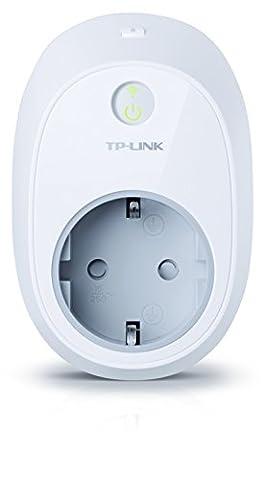 TP-Link HS100(EU) intelligente WLAN Steckdose (funktioniert mit Amazon Alexa [Echo, Echo Dot] und Google Home, mit App Steuerung überall und zu jeder Zeit)