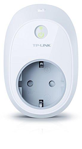 TP-Link HS100 - Enchufe inteligente (inalámbrico, funciona con TP-Link KASA para Android e iOS, control inalámbrico y remoto via TP-Link Cloud, modo lejos, configuración de horarios y fechas)