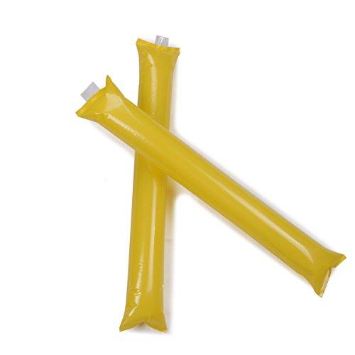 nner-Stick, 50 Paare Cheerleader-Outfit, aufblasbare Krachmacher (sortierte Farbe, zufällige Farben) (Gelbe Cheerleader-outfit)