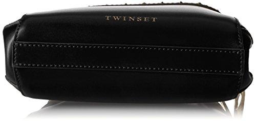Twin Set As7pw5, Borsa a Spalla Donna, Nero, 6x12x18 cm (W x H x L)