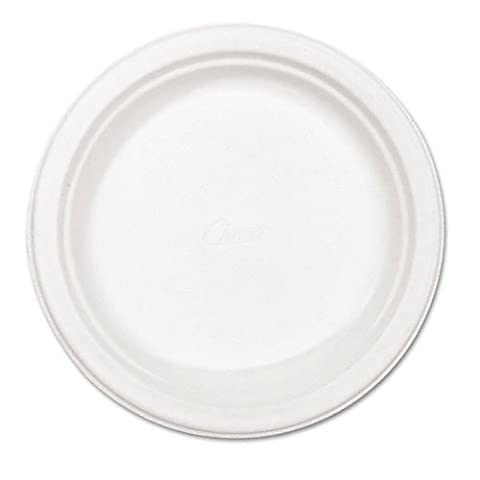 "Chinet 21227 Classic White Molded Fiber Round Plate, 8-3/4"" Diameter (Case of 500) by Huhtamaki"