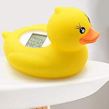 iSuper Digital Baby Bath Thermometer for Safe Swimming Duck Cute Cartoon Character Bath Toy Bath Thermometer