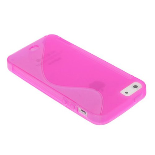 Cover Case New plastique souple S Line Grain de protection pour iPhone 5 5G 5S vert