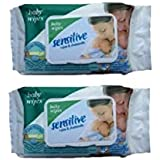 KIDZVILLA® Kids Baby Wipes Paraben Free Flip Top Baby Wet Wipes With Aloe Vera (90 Wipes In Each Pack) (Pack Of 2)