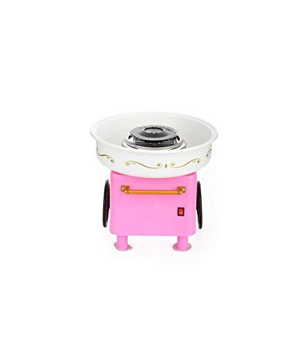 Máquina de Algodón de azúcar JK-M01 / Máquina profesional de eficiencia energética para hacer nubes y algodón de azúcar/Candy Machine (Rosa-Blanco)