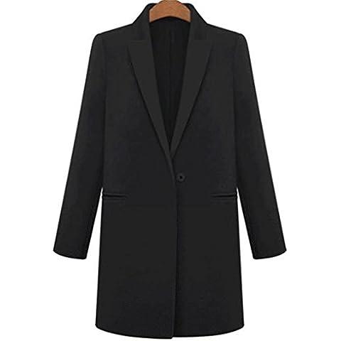 YUYU Traje Slim moda como manga larga abrigo Casual suave espesado , black , xl
