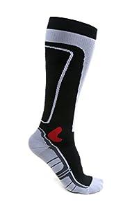 Kompressionsstrümpfe von KAIZEN High Performance Sport Socken Stützstrümpfe Kompressionssocken (Schwarz, EU 39 - 42 /// UK 7 - 9)