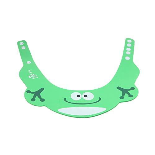 SUPVOX Verstellbarer Baby Shampoo Duschvisier Badeschutzhut für Kleinkinder Kleinkinder (Grüner Frosch)
