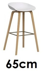 HAY About a Stool AAS 32hay, hay, tabourets, 65cm, Sitzschale Blanc, structure Eichenholz cerate, Design Hee Welling AAS 32, Daene Mark