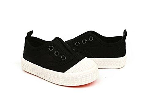 ALUK- Chaussures de bébé - Chaussures de toile pour enfants Apprenez chaussures paresseuses Chaussures occasionnelles ( Couleur : Rouge , taille : 30 ) Noir