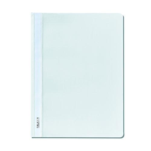Falken 11298858 Schnellhefter Plastik für DIN A4, 25er Packung, Weiß