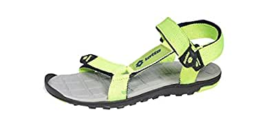 Lotto Men's Black Red Sandals and Floaters - 7 UK/India (41 EU)