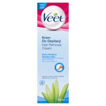 Veet Haarentfernungs-Creme Sensible Haut mit Silk & Fresh Technology, 100ml 1 Stück