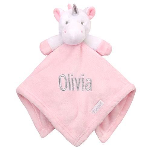 Personalisiertes Einhorn bestickt Baby Tröster Sparkle Neugeborene -