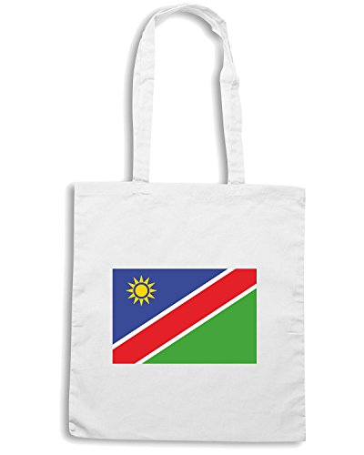 T-Shirtshock - Borsa Shopping TM0213 Namibia flag Bianco