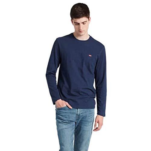 Levi's original hm tee, t-shirt uomo, blu (ls cotton + patch dress blues 0001), medium