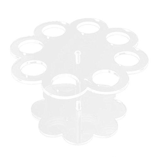 VORCOOL Acryl Ice Cream Cone Halter Ständer mit 8 Bohrungen (Transparent) (Eiswaffel-ständer)