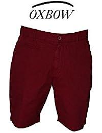 OXBOW - SHORT COTON COURT GRENADE MAROKA - Rouge - Homme