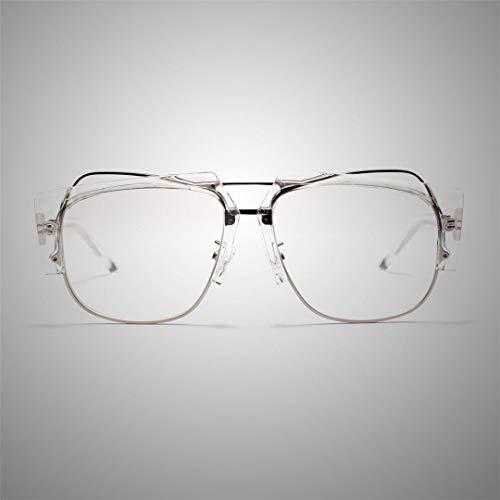 OuniaAAA Quadratischer klarer halbmetallischer Flacher Glasrahmen, Web-Celebrity-Gläser (Farbe : Clear)