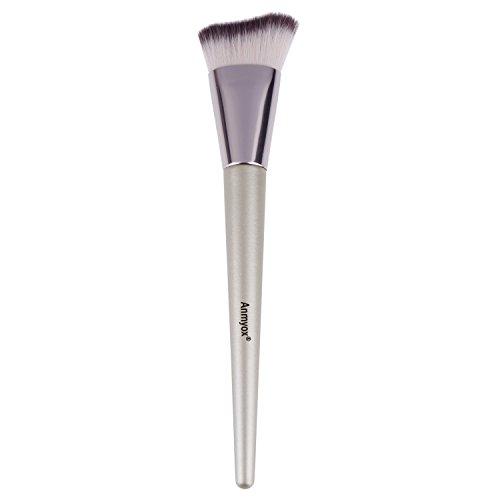 Anmyox doux visage menton Brosse de Maquillage synthétique de qualité supérieure Cosmétique Curve coudé Kabuki Fond de teint Brosse pour Mixer liquide Crème ou Poudre, Beauté Outil de maquillage