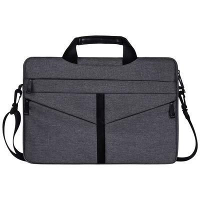 ZHAOLV Laptoptasche Stoßfestes Nylon Schulter Handtasche Messenger for 13 14 15 15.4 15.6 Notebook Fall Frauen Männer Sleeve Laptop Bag (Color : Dark Grey, Size : 15 inch) -