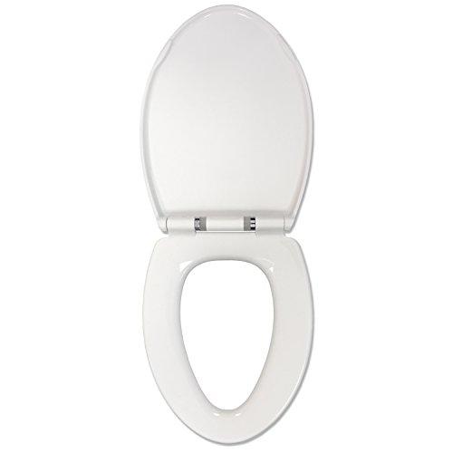 schärfere Bild Sound aktiviert Nachtlicht Absenkautomatik WC-Sitz, weiß, Elongated (Schärferes Bild Sound)