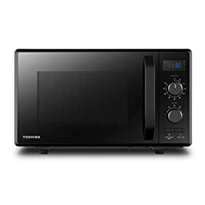 Toshiba 900 w 23 L Microwave Oven with 1050 w Crispy Grill, Energy Saving Eco Function, 8 Auto Menus, 5 Power Levels and Position Memory Turntable - Black - MW2-AG23PF(BK)