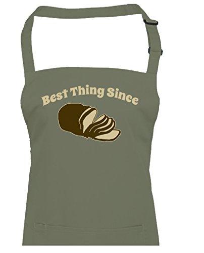 Meilleure Chose comme tranches en Bread- Funny Bakers Tablier unisexe à partir de Fatcuckoo, vert olive, Taille Unique